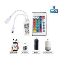 Dimmers Smart WiFi Controller Compatible with Alexa Google Home,Working with Android,iOS System, RGB LED Strip Lights In Stock