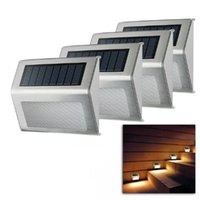 Solar Lamp Outdoor Fence Stairs Lights IP44 Waterproof LED Deck Light For Yard Patio Garden Decoration Step Lamps
