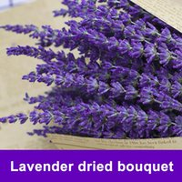 Decorative Flowers & Wreaths Dried Lavender Flower Bouquet Home Floral Branch Wedding Decoration Accessories 02