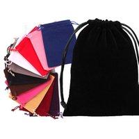 UPS Envío gratis Flannelette Bolsa de cordón de boda Bolsa de caramelo bolsas de regalo envoltura bolsa de caramelo caja de joyería bolsas de almacenamiento para envolver de regalo de fiesta