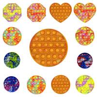 Hot Fidge Toy Sensosory Push Bubble Board игра Camouflage Цвета Стресс Reliver Autism Специальные нужды Декомпрессионные игрушки H34CSXG