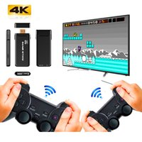 U8 USB Stick Video Game Console 4K HD Output CPS PS1 Emulators Double Wireless Gamepad Controller TV Game Console