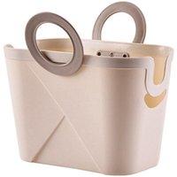 Laundry Bags Plastic Bath Basket Shower Washing Living Room Folding Shopping Gel Storage