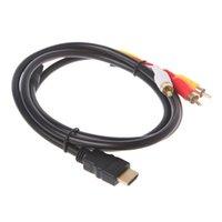 - Cablepatible Adaptador Cable Audio Video Component AV TV Projector HDTV a 3RCA Convertidor