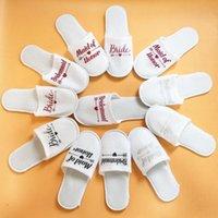 Favori del partito Favori di nozze e regali Bride Pantofole da sposa Damigella personalizzata Dono per gli ospiti Evento Souvenir
