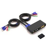 A / V Аксессуары HDMI KVM Switch 2 Port 1.4 Protocoll / 4K @ 30HZ USB 2-IN-1 OUT, PC Monitor Keyboard Switcher, аудио микрофон