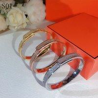 High Quality womens Diamonds bracelet classic Designer Cuff Silver Bracelet round Luxury beauty Bracelet millionaire Bracelets Jewelry Women Gift with boxs