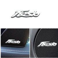 자동차 스티커 3D 알루미늄 엠블럼 인테리어 스피커 오디오 배지 Ford Fiesta MK7 MK8 MK6 MK5 MK4 7 ST 2020 8 액세서리