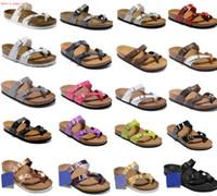 Birk'in Boken Tarzı Yaz Plaj Deri Süet Terlik Çevirme Sandalet Kadın Erkek Renk Rahat Slaytlar Ayakkabı Düz