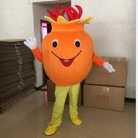 Performance Pomegranate Mascot Costume Halloween Christmas Fancy Party Cartoon Character Outfit Suit Adult Women Men Dress Carnival Unisex Adults