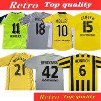 98 99 01 Retro Soccer Jerseys 00 02 قمصان كرة القدم الكلاسيكية Lewandowski Rosicky Bobic Koller 95 96 97 94 13 Reus Möller Dortmund