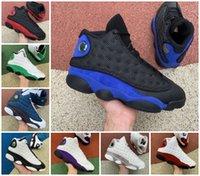 13s الأحمر فلينت الأزرق عكس bred المحكمة الأرجواني أحذية كرة السلة الرجال 13 مسحوق الظلام الأزرق شيكاغو انه حصلت على لعبة ليكرز المنافسة نجم أورورا الأخضر ملعب أحذية