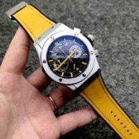 Homens Relógio Analógico 40mm Movimento de Quartzo Data Calendário All Discagem de Couro Strap Orologio Uomo Luxo Montre de Luxe Designer Relógios
