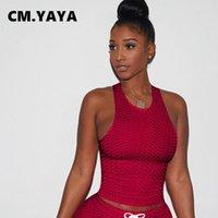Cm. Yaya actieve effen sweatsuit womens tracksuits vrouwen conjunto de tanques en korte bijpassende pak esporte trainingspak twee delige fitness