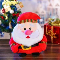 Multi-size party plush toy bearded old man snowman puppet doll Christmas day decoration dolls children gift plushs Santa OWE9342