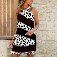 Casual Dresses Vintage Elegant Dress Women Summer Daily Fashion Print Sleeveless Sundress Blackless Mini Vestidos Mujer Verano 2021