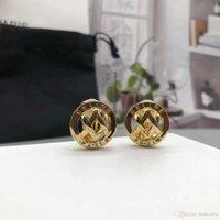 Brincos femininos clip-on Brincos parafuso de volta meninas 'designer de moda jóias lady festa 14k presente banhado a ouro com caixa