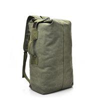 Мужчины рюкзак прочный холст многопользования большой емкости путешествия багажную прогулку на открытом воздухе упражнения Fabala