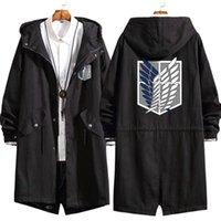 패션 새로운 남성 코트 애니메이션 공격 Titan 긴 까마귀 자 켓 에인 Jaeger 코스프레 느슨한 트렌치 스웨터 오버코트