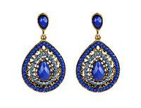 bohemian diamond Stud water drops, Earrings, rice beads Jewelry For Women Wholesale gifts