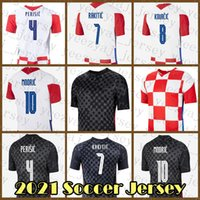 21 22 축구 유니폼 크로아시아 축구 셔츠 Perisic 유니폼 Kovacic Rakitic Modric Mandzukic Kalinic Lovren 나고야 Kramaric Brozovic Pasalic Orsic Petkovic Grey