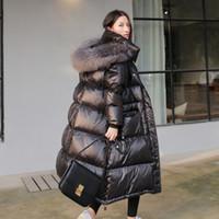 Ayunsue 90% pato blanco abajo chaqueta mujer gruesa larga capa de invierno mujeres con capucha chaqueta femenina coreana doudoune femme kj727 t191211