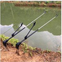 Tige de poisson support de support réglable réglable tiges de pêche hauteur m m télescopes outil de pêche canne à main