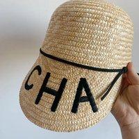 واسعة بريم القبعات الصيف الاتجاه المرأة عارضة القش قبعة قناع كاب لسيدة فتاة إلكتروني التطريز الشمس السفر عطلة في فيشيرا موهير