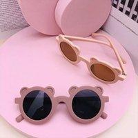Dibujos animados encantadores niños gafas de sol oso forma marco chicas niños gafas de sol rotulada calle beat boy boy gafas tonos lindos