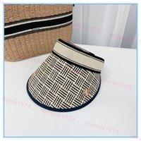 Summer Visors Luxurys Designers Empty Top Hat 2021 Fashion Beach Womens Casual Bee Straw Hats Breathable Hollow Caps Bonnet Casquette Tapas