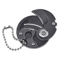 MINI COIN Knife Key Buckle Pendant Folding Knives Camping Defense EDC Outdoor Pocket Multifunctional Tool HW146
