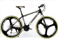 26 inch 21 speed three knife one wheel mountain bike adult cross country bicycle high carbon steel mountain bike yellow
