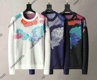 21ss 파리 망 여성 컬러 낙서 인쇄 스웨터 클래식 편지 인쇄 스웨터 캐주얼 고품질 Womens 디자이너 스웨터 쉬