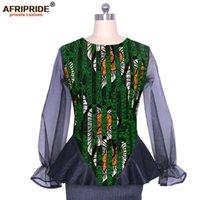 Damesjassen Vrouwen Tops Afrikaanse Print Shirts Blouse Dashiki Slim Fit Party Wear Wax Jas Jassen Attire Bazin Riche Afripride A1924011