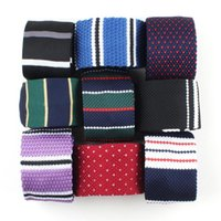 Bow Ties Men's Knitted Tie Leisure Hearts Striped Neckties For Man Woven British Style Skinny Cravate Party Knitting