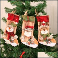 Decorations Festive Party Supplies Home & Gardenthree-Nsional Printed Christmas Stocking Gift Bag Old Man Snowman Xmax Ornaments Childrens S