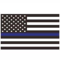 EUA Stock por atacado 90 * 150 cm policia policiais EUA EUA polícia americana fina linha azul 3x5fts bandeira 50 v2