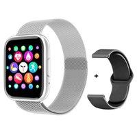 Boa Bateria T99 Smart Watch Homens Mulheres Full Touch Bluetooth Chamada Personalizada Dial Relógio Esporte Pulseira Coração Fitness Tracker Pulseira PK Q18 IWO 13 Pro SmartWatch