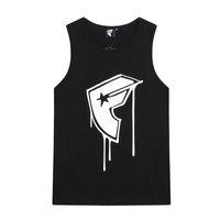 famous Europe USA Spring Summer fashion ink Tee T Shirt Skateboard Vest Men high street Sleeveless streetwear Over size Tshirt 2504