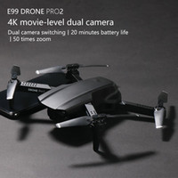 E99PRO مزدوجة 4K HD كاميرا WiFi FPV ميني مبتدئ بدون طيار كيد لعبة، تتبع رحلة، سرعة قابل للتعديل، الارتفاع عقد، لفتة صورة كوادكوبتر، 2-2