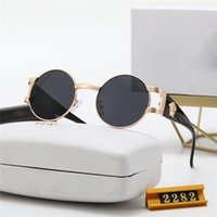 2282 الثلاثي إطار الإطار الأزياء الفاخرة مصمم خمر المتضخم أنيق المرأة النظارات الشمسية uv والدليل