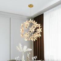 Oturma odası için modern led kristal avize yemek masası yaratıcı karahindiba tavan asılı lamba mutfak yatak odası aydınlatma