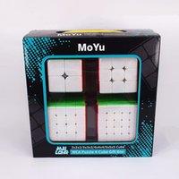 Moyu 2x2x2 3x3x3 4x4x4 5x5x5 Caja de regalo de cubo mágico Meilong 2x2 3x3 4x4 5x5 Cubo de velocidad Puzzle Cubo Magico L0226