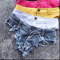 Pantalones cortos de mezclilla para mujer 2021 primavera verano micro mini corto sexy tanga sexy femme jean con cintura baja noche club de noche blanco negro
