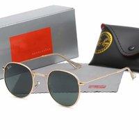 Rayon de haute qualité Hommes Sunglasses Vintage Vintage Pilot Wayfarer Brand Sun Lunettes Bande UV400 Bans Ben avec Boîte et Case 3447