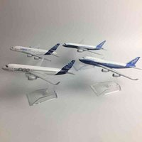 Jason Tutu Modelo Original A380 Airbus Boeing 747 Avião Avião Diecast Modelo Metal 1: 400 Coleção de presente de brinquedo
