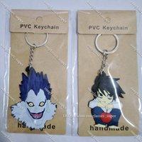 COSANER Death Note Boy Anime Key Chain PVC Figure Keyring Toys Keychain Keyholder Birthday Gift Rock