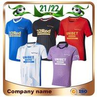 2021 Glasgow Rangers Soccer Jerseys 21/22 Hagi Defoe Davis Morelos Millots De Foot Shirt Arfield Kennedy Middleton 3