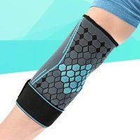 Rodillas de codo 1pc Unisex Running Protector Armband Sport Support Soporte extendido Siller Weavers Manga del brazo (azul,)
