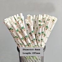 Papierstroh Bambus Muster Abbaubare Papier Einweg Partei Weihnachtsdekoration Farbe Grün Getränk Saft Papier Stroh 100 Weihnachtsbaum